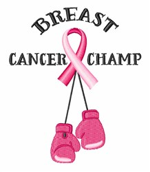 Breast Cancer Champ embroidery design