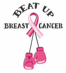 Beat Breast Cancer embroidery design