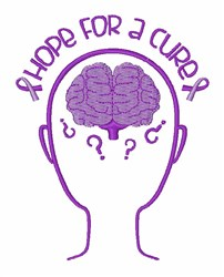 Hope For Cure embroidery design