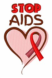 Stop Aids embroidery design