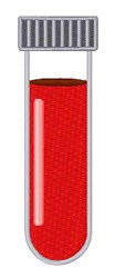 Blood Test Tube embroidery design