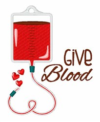 Give Blood embroidery design