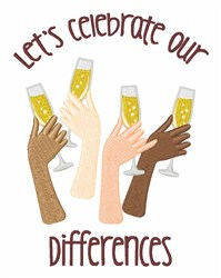 Celebrate Differences embroidery design