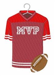 Football MVP Jersey embroidery design
