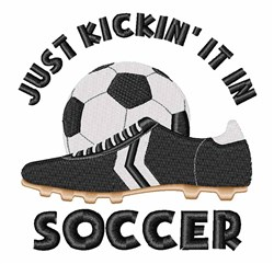 Soccer Kicking embroidery design