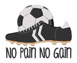 Soccer Pain embroidery design