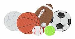 Sports Balls embroidery design