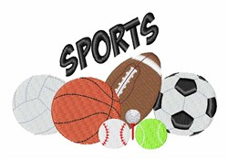 Sports Equipment embroidery design