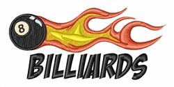 Billiards Eight Ball embroidery design