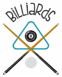 Billiards embroidery design
