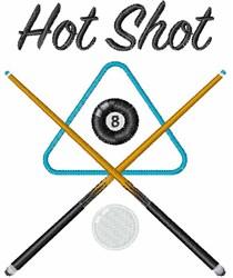 Billiards Hot Shot embroidery design