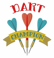 Dart Champion embroidery design