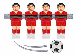 Foosball Game embroidery design