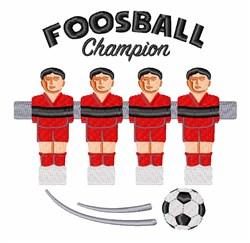 Foosball Champion embroidery design