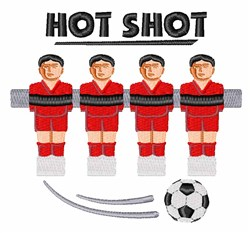 Foosball Hot Shot embroidery design