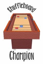 Shuffleboard Champion embroidery design