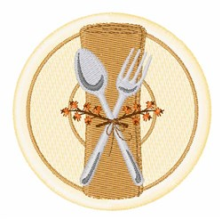 Thanksgiving Place Setting embroidery design
