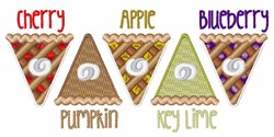 Fruit Pie Slices embroidery design