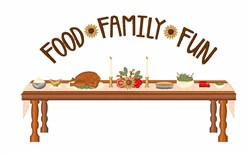 Food Family Fun embroidery design
