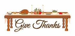 Give Thanks Dinner embroidery design