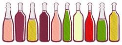 Wine Bottles embroidery design