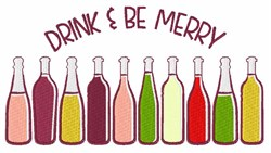 Drink & Be Merry embroidery design