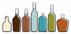 Liquor Bottles embroidery design