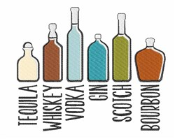 Variety Of Liquor embroidery design