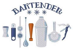 Bartender Mixing Tools embroidery design