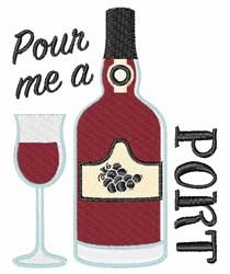Pour Me A Port embroidery design