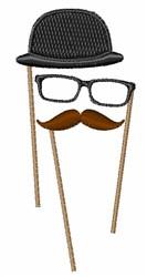 Mustache Glasses Hat embroidery design