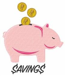Piggy Bank Savings embroidery design