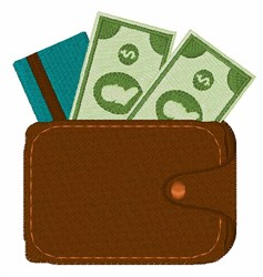 Money Wallet embroidery design