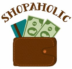 Shopaholic Wallet embroidery design
