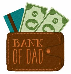 Bank Of Dad embroidery design