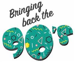 90s Comeback embroidery design
