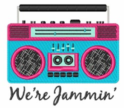 Jammin Boom Box embroidery design