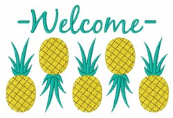 Welcome Pineapple Border embroidery design
