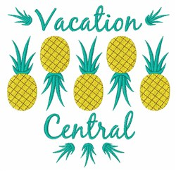 Pineapple Vacation Central embroidery design