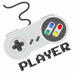 Game Controller Player embroidery design