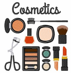 Assorted Cosmetics embroidery design
