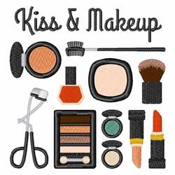 Kiss & Makeup embroidery design