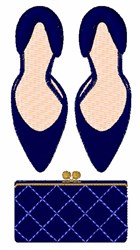 High Heels & Clutch embroidery design