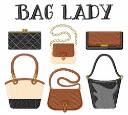 Bag Lady embroidery design