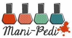Mani-Pedi embroidery design