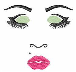Womans Face embroidery design