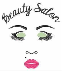 Beauty Salon Gal embroidery design