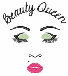 Beauty Queen embroidery design
