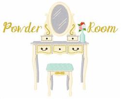 Powder Room embroidery design