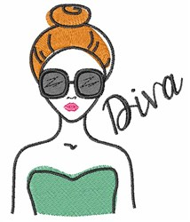 Diva Sketch embroidery design